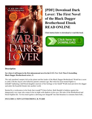 [PDF] Download Dark Lover: The First Novel of the Black Dagger Brotherhood Ebook READ ONLINE