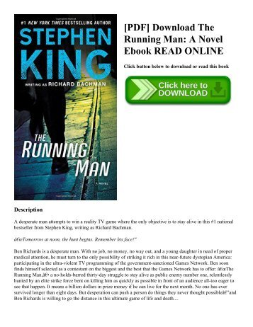 [PDF] Download The Running Man: A Novel Ebook READ ONLINE