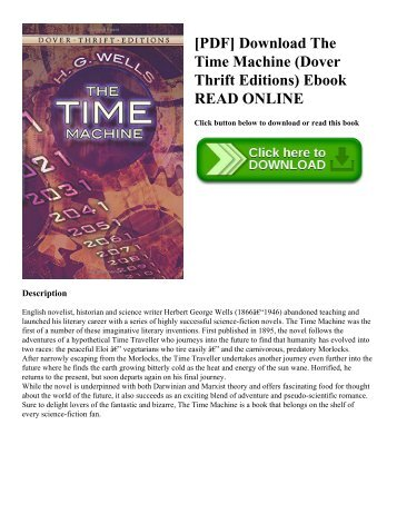 [PDF] Download The Time Machine (Dover Thrift Editions) Ebook READ ONLINE
