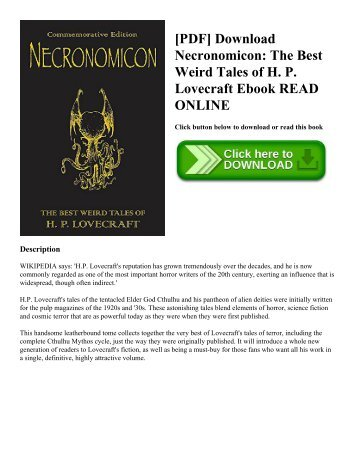 [PDF] Download Necronomicon: The Best Weird Tales of H. P. Lovecraft Ebook READ ONLINE