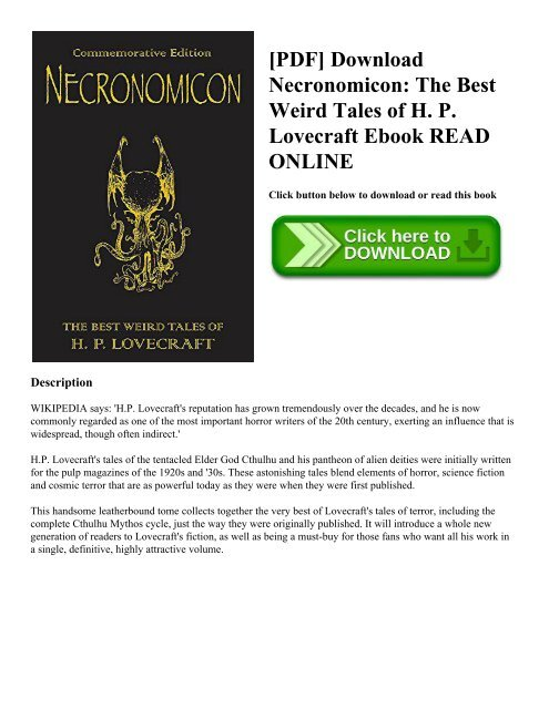 The Necronomicon Pdf