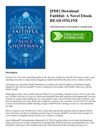 [PDF] Download Faithful: A Novel Ebook READ ONLINE