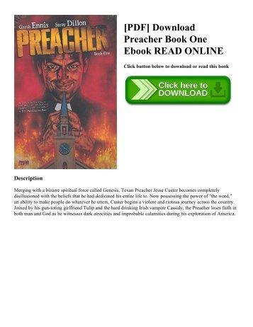 [PDF] Download Preacher Book One Ebook READ ONLINE