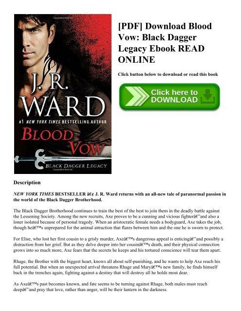 Pdf Download Blood Vow Black Dagger Legacy Ebook Read Online