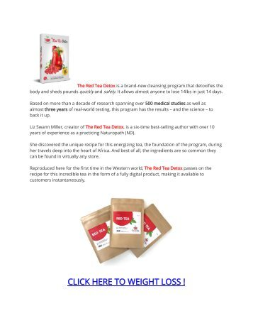 The Red Tea Detox Weight Loss