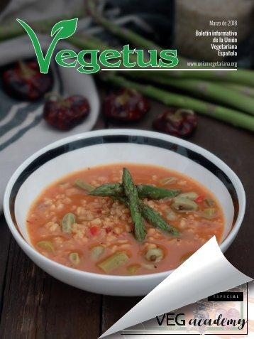 Boletín Vegetus, marzo 2018