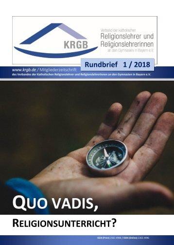 KRGB Rundbrief 2018 / 1