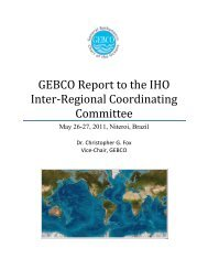 Report from the GEBCO Guiding Committee - General Bathymetric ...