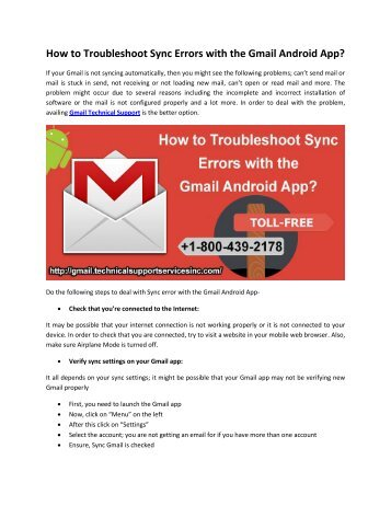 How to Troubleshoot Sync Errors with the Gmail Android App?