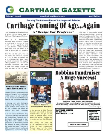 Carthage Gazette April