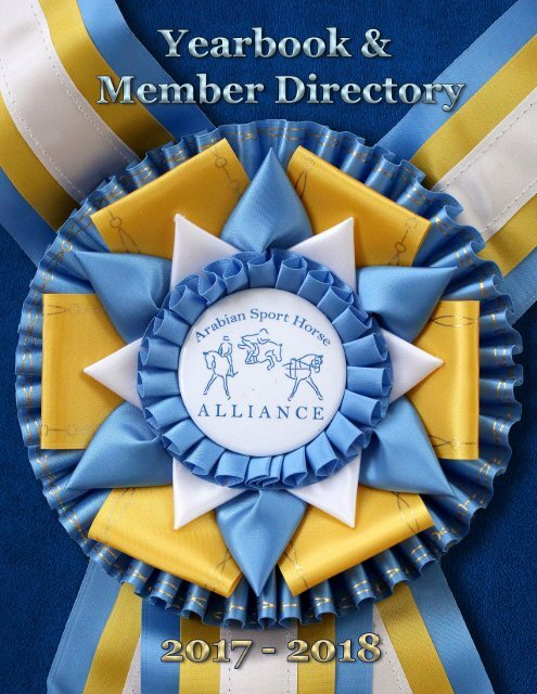 Arabian Sport Horse Alliance 2017-2018 Directory & Yearbook