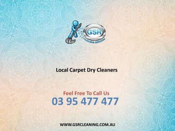 Local Carpet Dry Cleaners - GSR Cleaning Services