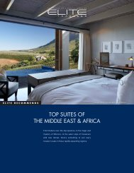 TOP SUITES OF THE MIDDLE EAST & AFRICA - Elite Traveler