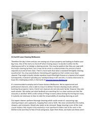 A1 End-Of Lease Cleaning Melbourne