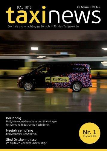 RAL 1015 taxi news Heft 01-2018
