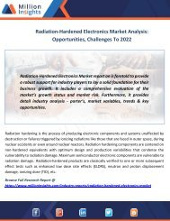 Radiation-Hardened Electronics Market Analysis Opportunities, Challenges To 2022
