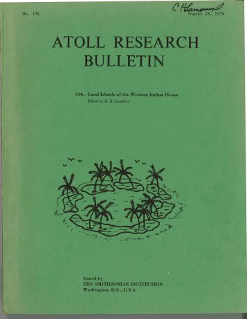 ATOLL RESEARCH BULLETIN - Smithsonian Institution