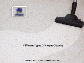 Different Types Of Carpet Cleaning