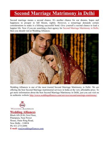 Second Marriage Matrimony in Delhi
