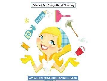 Exhaust Fan Range Hood Cleaning