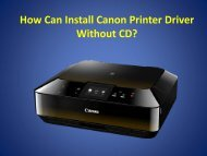 How Can Install Canon Printer Driver Without CD?