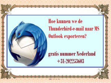 Hoe kunnen we de Thunderbird-e-mail naar MS Outlook exporteren
