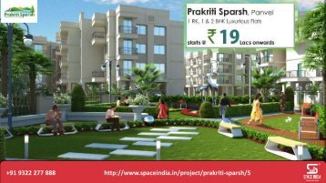 Online Prakriti Sparsh Panvel Flats  - Space India