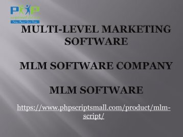 MLM Software - MLM Software company
