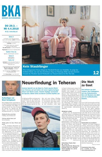 Berner Kulturagenda 2018 N°12