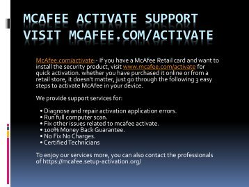 Go through www.mcafee.comactivate for Instant mcafee activate Support