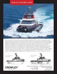 ocean class dp1 & dp2 vessel specifications