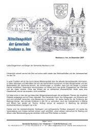 Neuhaus a. Inn, im Dezember 2007 Liebe ... - Landkreis Passau