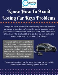 Do you Know How To Avoid Losing Car Keys Problems?