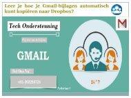 Leer je hoe je Gmail-bijlagen automatisch kunt kopiëren naar Dropbox