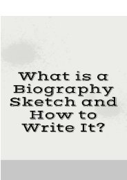 What is a Biography Sketch and How to Write It?