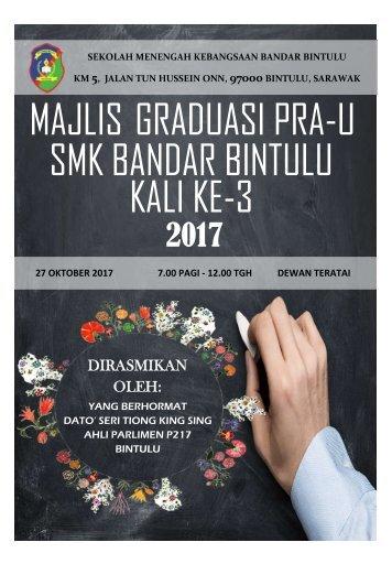 Buku Kenangan Majlis Graduasi Pra-U Kali Ke-3 SMK Bandar Bintulu