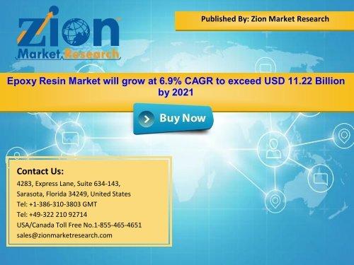 Global Epoxy Resin Market, 2015 – 2021
