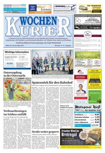 Wochen-Kurier 13/2018 - Lokalzeitung für Weiterstadt und Büttelborn