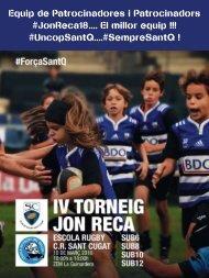 Agradecimiento Patrocinadors JonReca18
