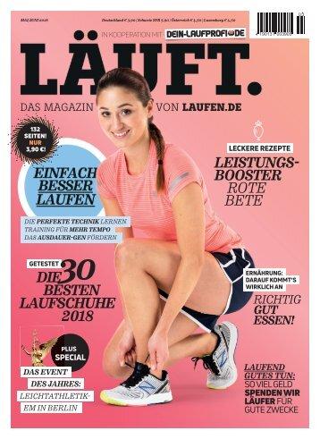 LÄUFT. Das liest du im neuesten Magazin von laufen.de