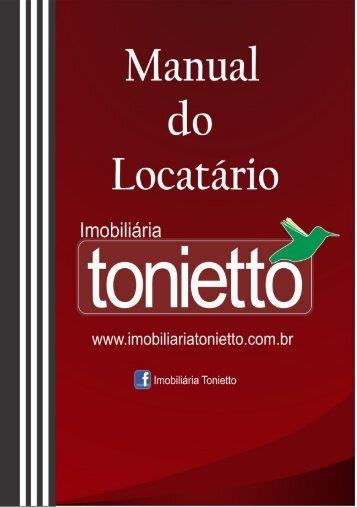 Cartilha Manual Locatário Imobiliária Tonietto