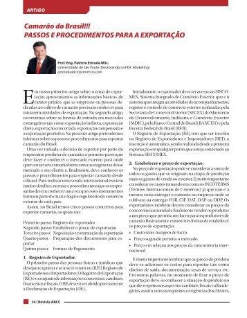 Revista ABCC 2016 Novembro Passos e Procedimenos Pág. 74 y 75