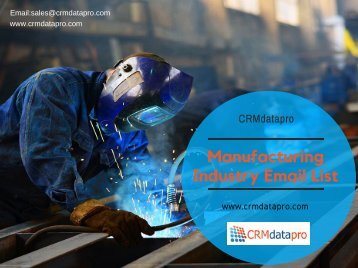 Manufacturing Industry Email List