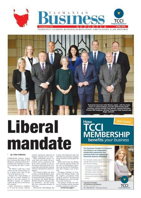 Tasmanian Business Reporter April 2018