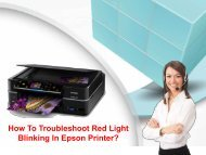 How To Troubleshoot Red Light Blinking In Epson Printer?