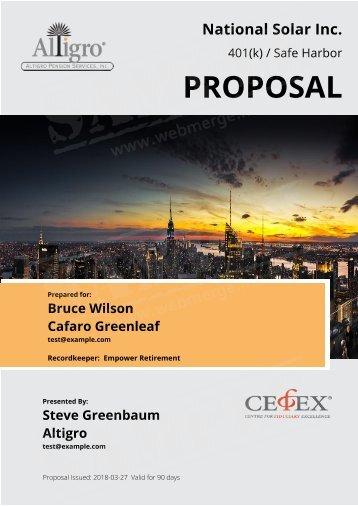 National Solar Inc. Proposal