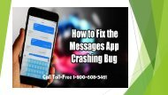 Toll-Free 800-608-5461How to Fix iPhone Message App Crash Bugs Error