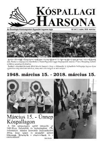 Kóspallagi Harsona 2018. március