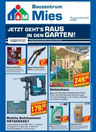 i&M Bauzentrum Mies - Ruppichteroth: Einzelhandelsbeilage KW13/2018