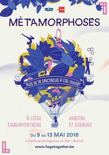 Dossier de presse - Métamorphoses 2018
